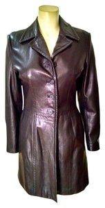 Frenchi Leather Long black Leather Jacket