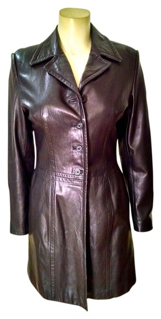 Preload https://item2.tradesy.com/images/frenchi-black-long-length-button-front-p1663-leather-jacket-size-8-m-5492401-0-0.jpg?width=400&height=650