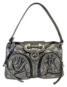 Botkier Silver Metallic Leather Shoulder Bag