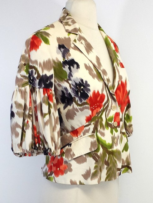 Paul Smith Multi Color Floral Print Cotton Blend Jacket