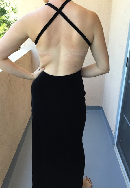 Lucca Backless Slit Gown Dress