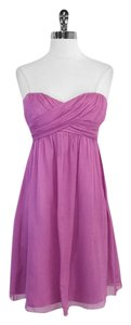 J.Crew short dress Light Violet Silk Strapless on Tradesy