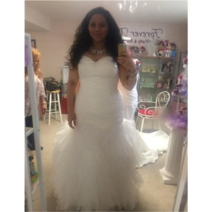 Oasis Ivory Tulle Feminine Wedding Dress Size 16 (XL, Plus 0x)