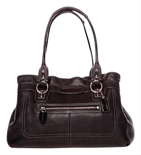 Coach Pebbled Leather Excellent Satchel in Black