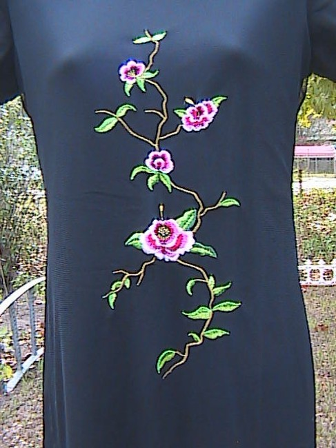 Black Floral Maxi Dress by My Michelle