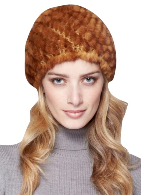 Item - Whiskey Reversible Knitted Mink Hat