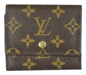 Louis Vuitton * Louis Vuitton Elise Monogram Wallet - Brown