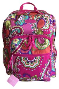 Vera Bradley Lightenup Floral Printed Polyester Backpack