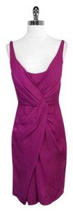 Stella McCartney short dress Fuchsia Draped Sleeveless on Tradesy