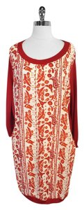 Rebecca Minkoff Red Paisley Print Silk Sweater Tunic