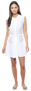 Shoshanna short dress white Eyelet on Tradesy