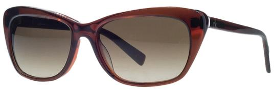 Calvin Klein Calvin Klein Clear Brown Rectangular Sunglasses