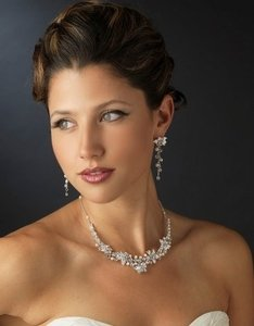 Elegance by Carbonneau / Pearl and Rhinestone Jewelry Set