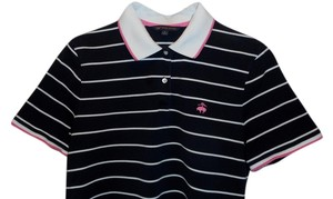 Brooks Brothers Polo Striped Top Black
