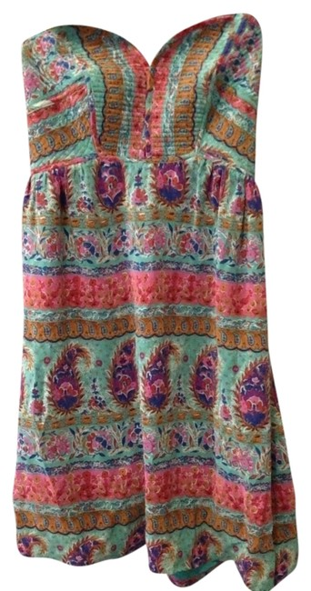 Item - Summer Silk Sexy Womens Strapless Above Knee Short Casual Dress Size 6 (S)