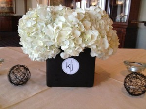 Black 10 Square Vases Centerpiece