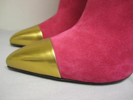 Gucci Pink & Gold Boots