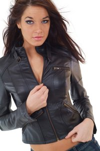Rouge Ladies Leather Leather Leather Slim Fit Leather Coat Slim Fit Motorcycle Jacket
