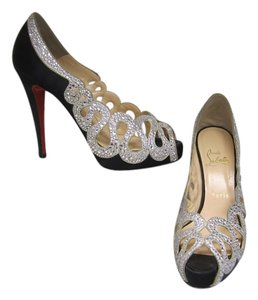Christian Louboutin Black & Silver Pumps
