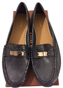 Coach Snakeskin Leather Casual blue Flats