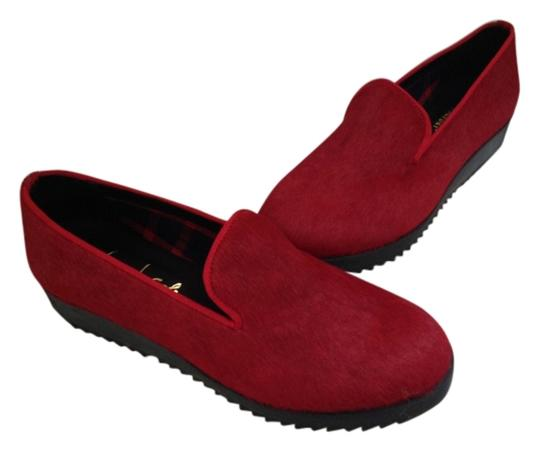 French Sole Fur Amazing Pony Hair Casual Career Red Pumps