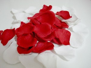 1000x Red Rose White Petal Decoration Love Wedding Party