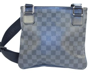 Louis Vuitton Black/ Grey Messenger Bag