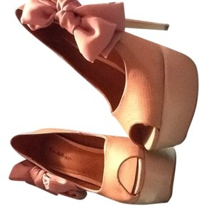 Miss Selfridge Nude Pumps