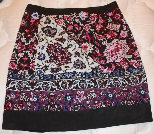 New York & Company Skirt Pink Floral