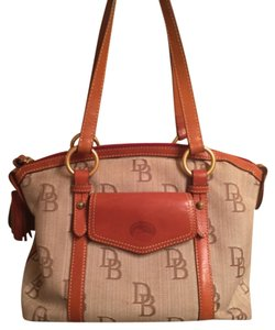 Dooney & Bourke Satchel in Brown Tan Green Red