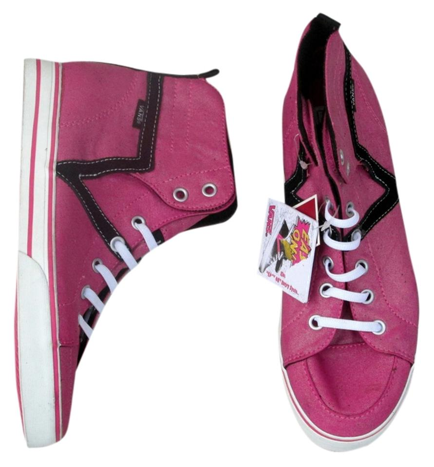 f217c263c51 Vans Pink White Black New Velcro High Top Missys Sneakers Size US 6 ...