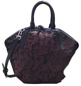 Alexander Wang Leather Hardware Tote in Painted Metallic Brown Calf-Hair