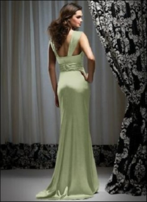 Dessy Full Length Sleeveless Satin Dress