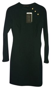 Zara Green Longsleeve Goldbutton Military Dress
