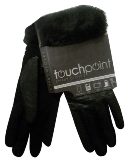 "TouchPoint TouchPoint S/M ""Fur"" Cuff Black Gloves Works Electronics"