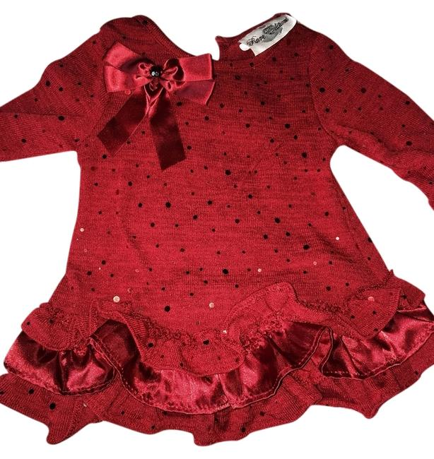 Other short dress Red With Sequence on Tradesy