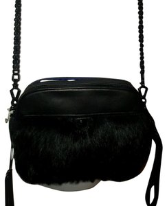 Rebecca Minkoff Leather Fur Rabbit Cross Body Bag