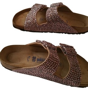 Birkenstock Swarovski Crystals Studded blush Sandals
