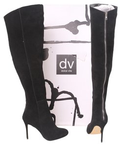 DV by Dolce Vita Suede Otk Over The Knee Over The Knee Thigh High Zip Suede Sexy Black Boots