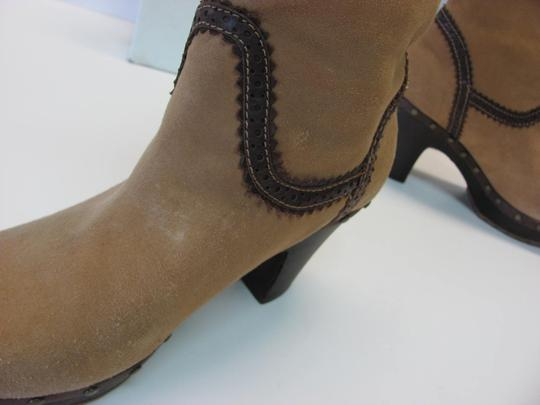 Daniblack Good Condition Size 7.00m Light Brown, Dark Brown Boots Image 2