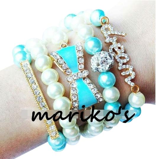 Other Dream blue pearls arm candy bracelets