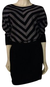 Ann Taylor LOFT short dress Black and Grey Sweater Warm on Tradesy