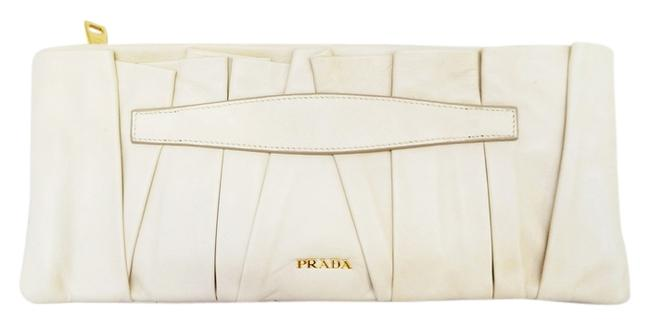 Item - Taupe Pleated Long Hand Beige Leather Clutch