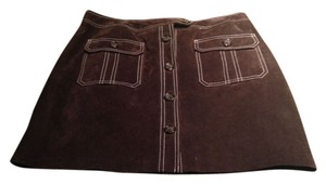 INC International Concepts Mini Skirt brown