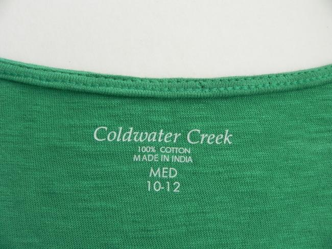 Coldwater Creek Cotton Machine Washable Top Green