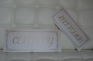 Hardback Ceremony And Reception Signs
