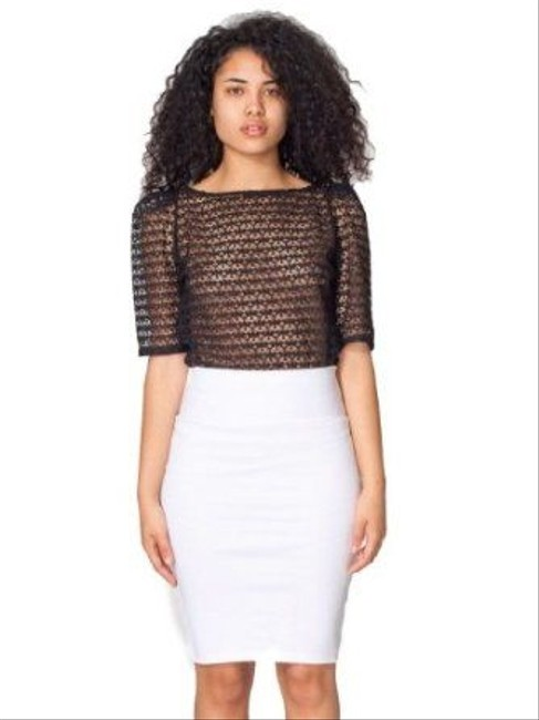 American Apparel Pencil Size Xs Pencil Skirt White