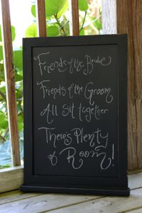 Black Chalkboard Sign- Hanging Or Leaning Other