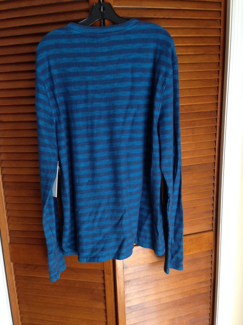 Calvin Klein Designer Jeans Shirt Thermal Longsleeve Xl X-large Fall Stripes Sweater