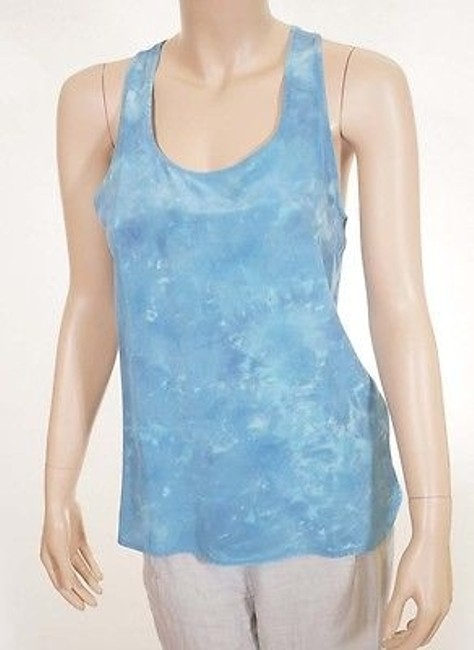 Preload https://item1.tradesy.com/images/cynthia-rowley-womens-light-blue-tie-dye-silk-sleeveless-blouse-tank-top-5500810-0-0.jpg?width=400&height=650